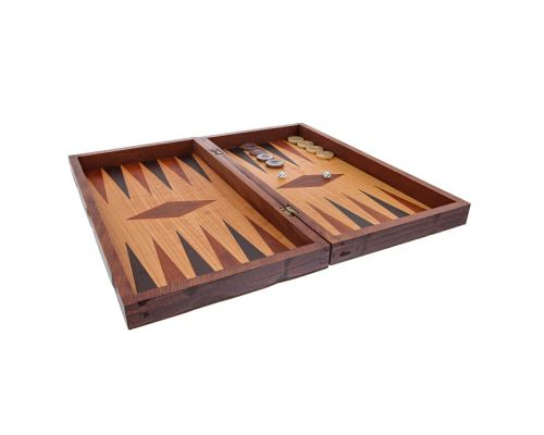 Handmade Wooden Backgammon Game Set / The Earth Picture Inset - Small 2