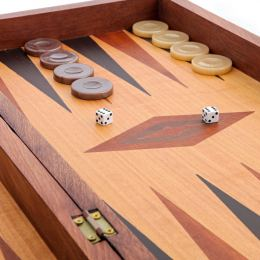 Handmade Wooden Backgammon Game Set / The Earth Picture Inset - Small 3