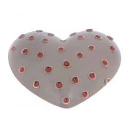 Γκρι Καρδιά - Κεραμικό Διακοσμητικό Τοίχου