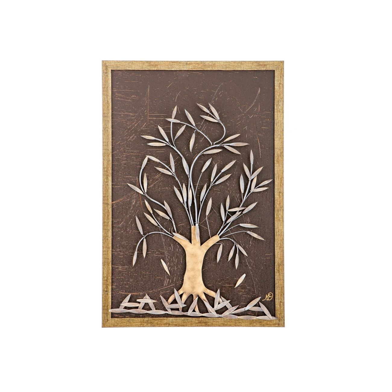 sc 1 st  Elite Crafters & Olive Tree 3D Handmade Wood u0026 Metal Wall Art Framed Decor 25