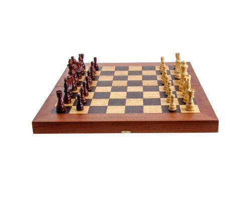 Handmade Mahogany Wood Backgammon Chess & Checkers Wooden Board Game Set - Large 1