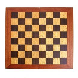 Handmade Mahogany Wood Backgammon Chess & Checkers Wooden Board Game Set - Large 3