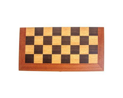 Handmade Mahogany Wood Backgammon Chess & Checkers Wooden Board Game Set - Large 5
