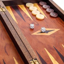 Handmade Wooden Backgammon Board Game Set - Clipper Sailing Ship Picture Exterior Medium 5
