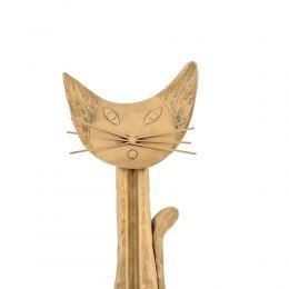 Γάτα - Διακοσμητικό Τοίχου, Μεταλλικό, Χρυσό, Μεγάλο
