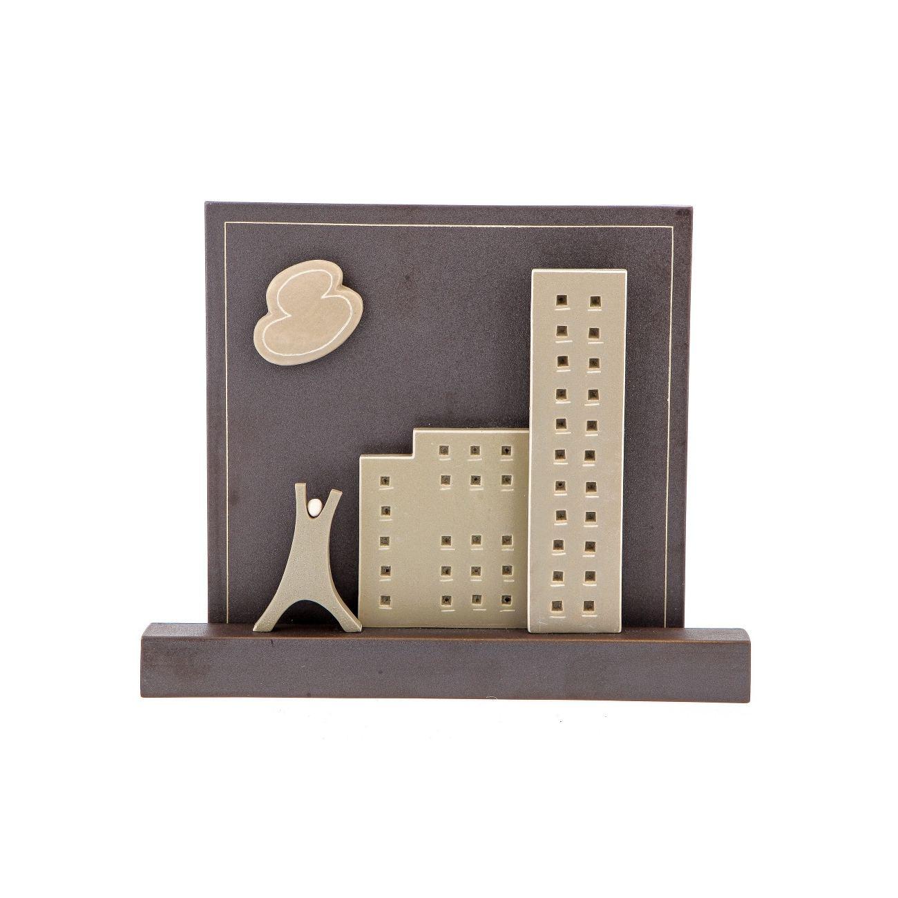 Modern Ceramic Tile 3d Wall Art Decor Sculpture Handmade City