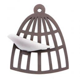 Διακοσμητικό Τοίχου - Άσπρο Πουλί σε Κλουβί, Κεραμικό, Μικρό