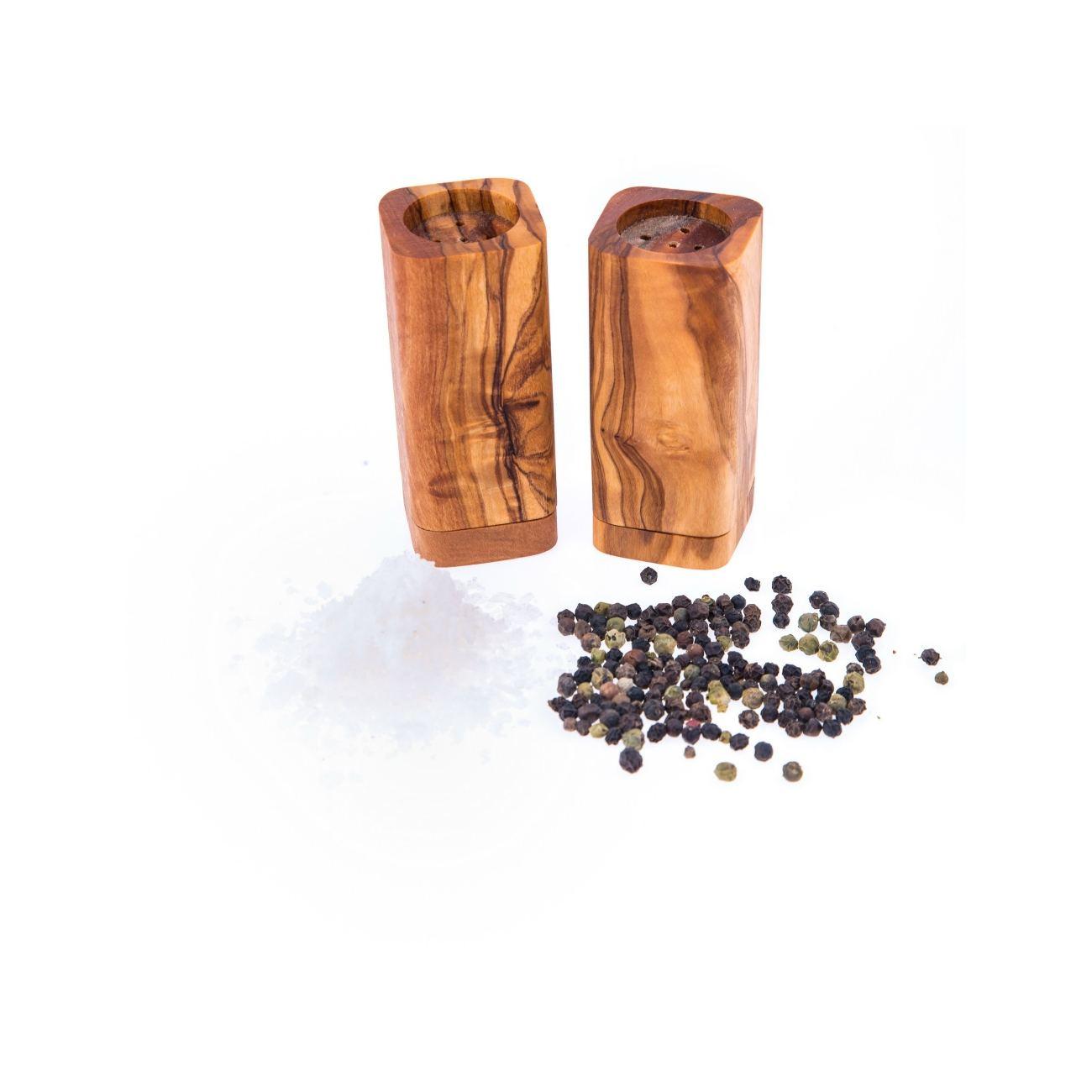 Wooden Kitchen Accessories ~ Olive wood salt pepper shakers set of kitchen