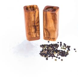 Olive Wood Salt & Pepper Shakers Set of 2 - Kitchen Accessories