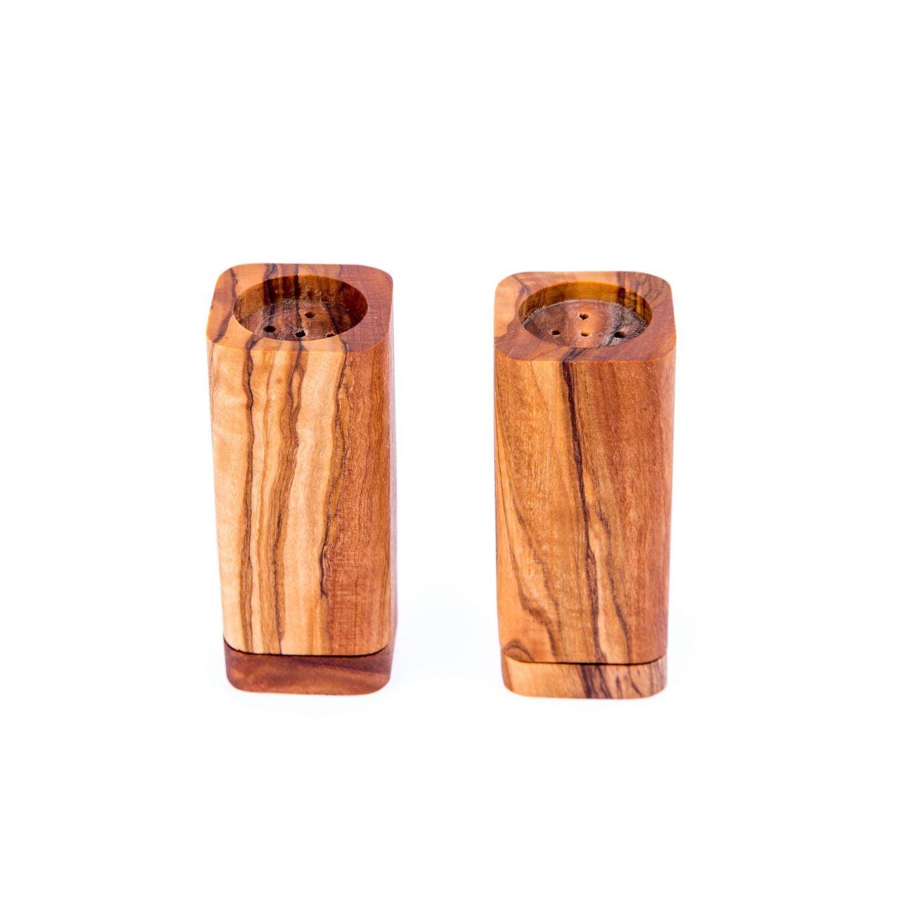 Olive Wood Kitchen Accessories Handmade, Wooden Salt & Pepper ...