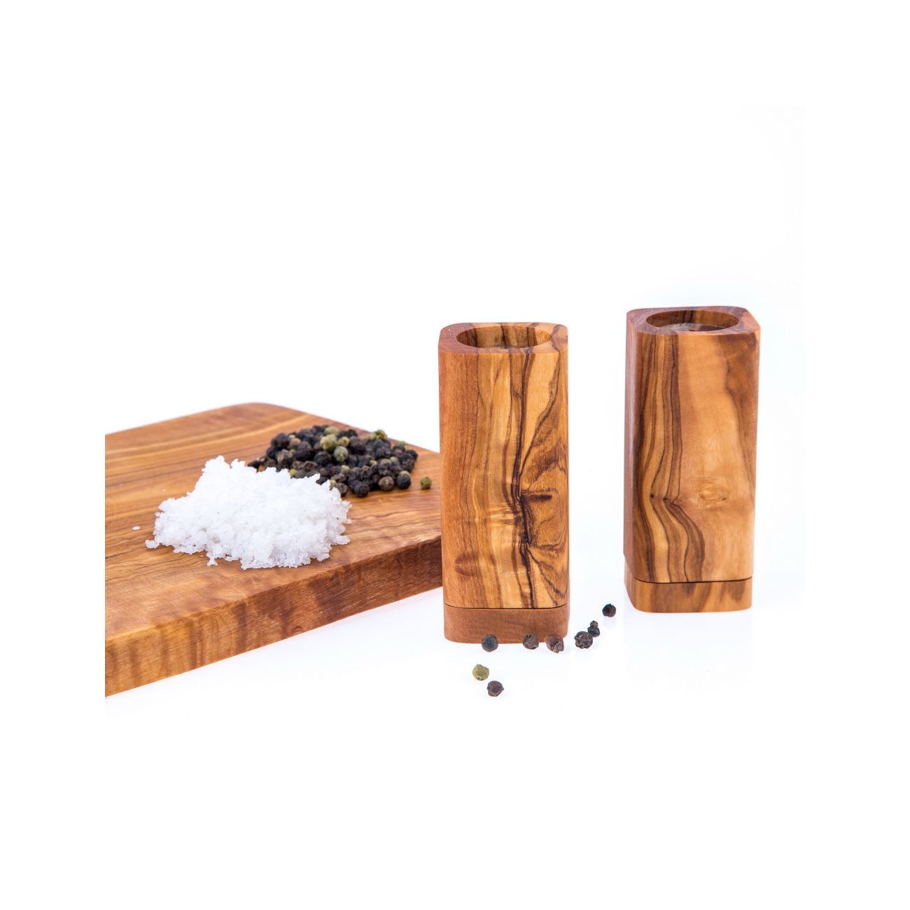 Olive Wood Kitchen Accessories Handmade Wooden Salt Pepper Shakers Set 6
