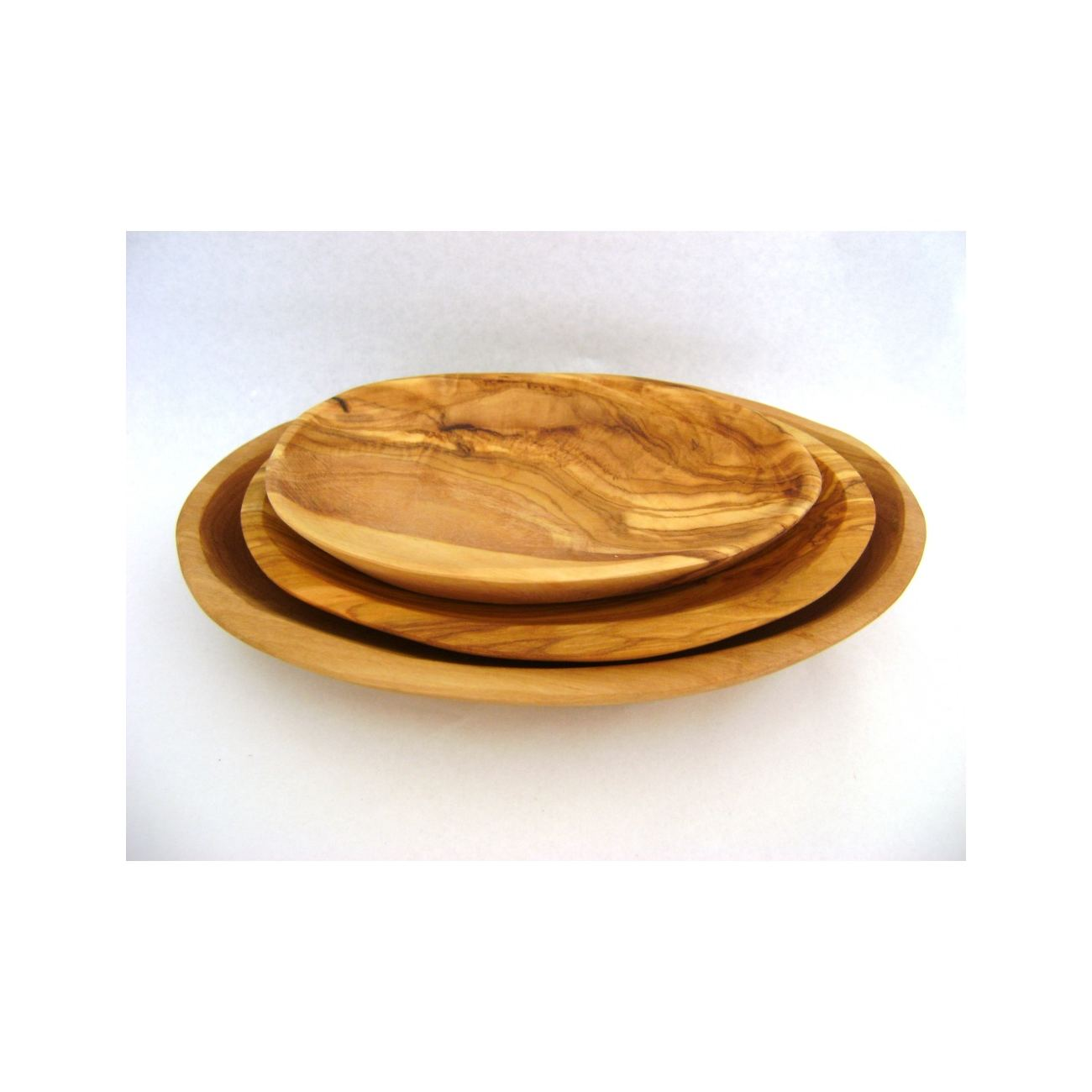 Olive Wood Serving Dishes or Plates Set of 3 - Handmade Oval Shape Kitchen Accessories  sc 1 st  Elite Crafters & Olive Wood Serving Dishes or Plates Set of 3 - Handmade Oval Shape ...