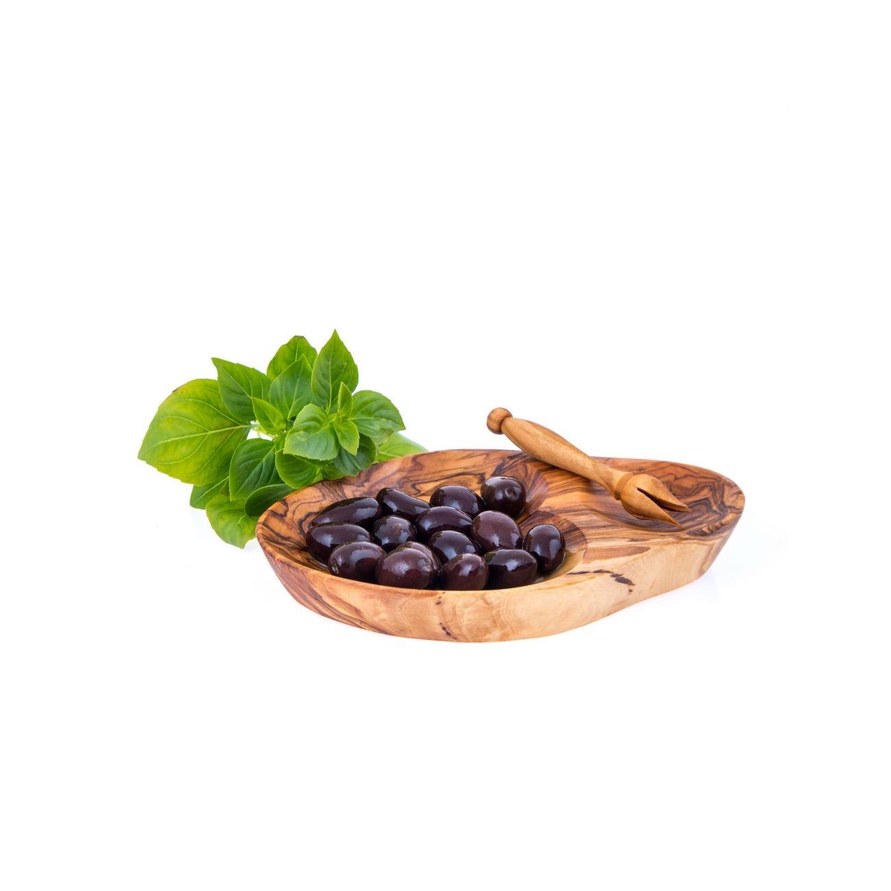 Olive Wood Serving Dish For Olives With Olive Fork