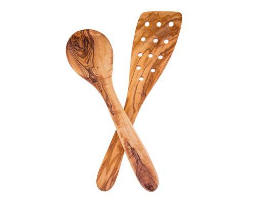 Σπάτουλα & Κουτάλα από Ξύλο Ελιάς - Σετ Μαγειρέματος