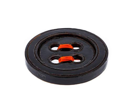 Μαύρο Κεραμικό Κουμπί - Μοντέρνο Διακοσμητικό Τοίχου – Μικρό