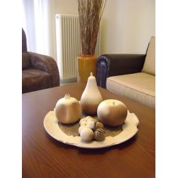 "Large Decorative Ceramic Platter & Fruits / Handmade Decor Set, Diameter 17.7"" (45cm)"