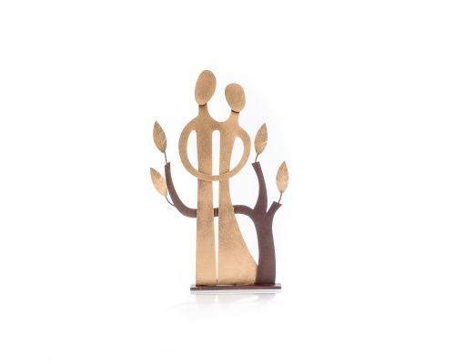 Ζευγάρι & Δέντρο - Μεταλλικό Διακοσμητικό Τοίχου και Επιτραπέζιο - Μεγάλο (40cm)