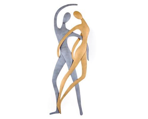 Ζευγάρι Χορευτές - Μεταλλικό Διακοσμητικό Τοίχου (66cm)