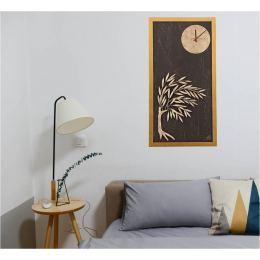 Διακοσμητικό Κάδρο Τοίχου με Ρολόι - Δέντρο Ελιάς (83cm)