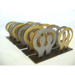 Business Card Holder, Modern Metal Handmade, 2 Human Figures Design