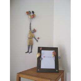 Αγόρι με Μπαλόνια - Διακοσμητικό Τοίχου, Μεταλλικό