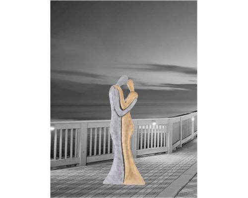 Ζευγάρι Αγκαλιά - Μεταλλικό Διακοσμητικό Τοίχου (63cm)