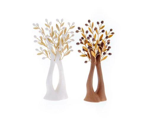Δέντρο Ελιάς - Κεραμικό Διακοσμητικό, Καφέ