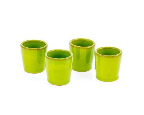 Καράφα με Ποτήρια & Bάση - Κεραμικό Σετ Ρακί, Πράσινο