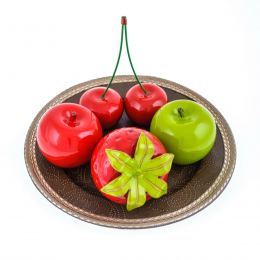 Διακοσμητικά Κεράσια - Κεραμικά Φρούτα, Κόκκινα