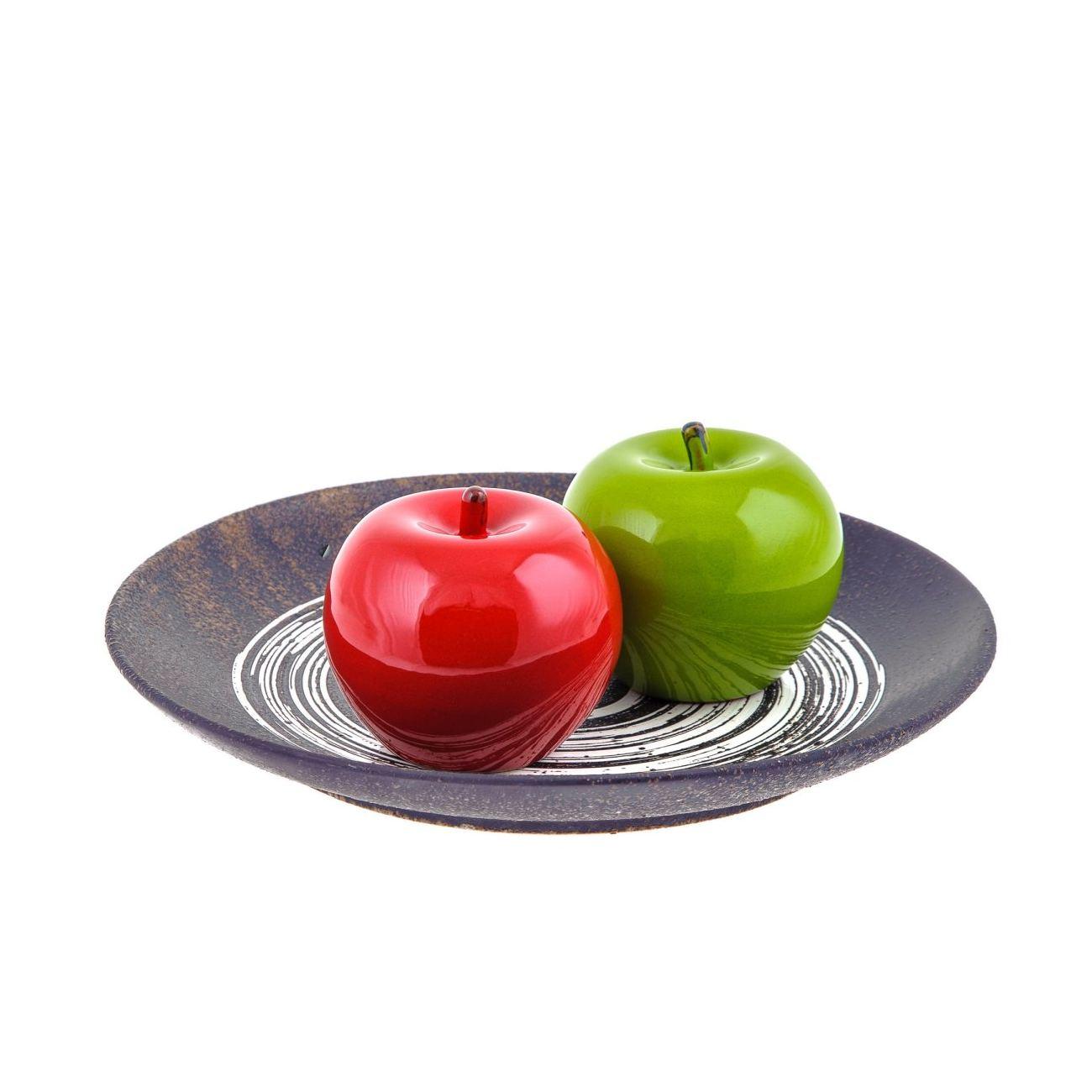 Red Apple - Modern Handmade Ceramic Decor Ornament - 3.9\'\' (10cm)