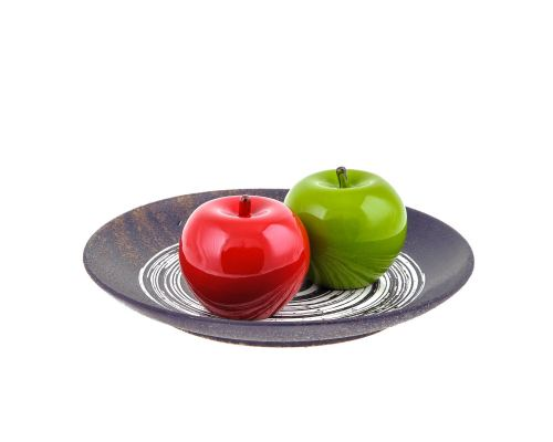 Διακοσμητικά Μήλα - Κεραμικά, Σετ Κόκκινο & Πράσινο