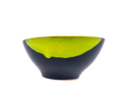 Μπωλ Φαγητού - Κεραμικό, Γκρι - Πράσινο