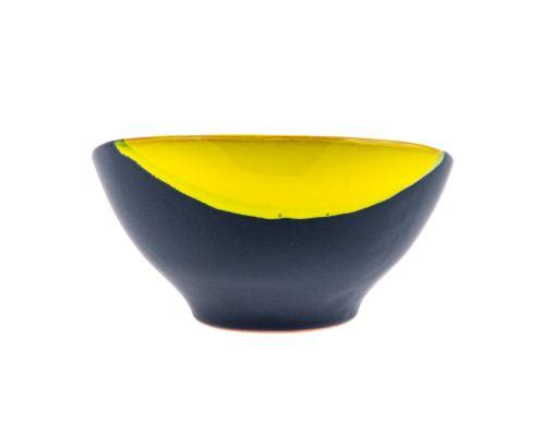 Μπωλ Φαγητού - Κεραμικό, Γκρι - Κίτρινο