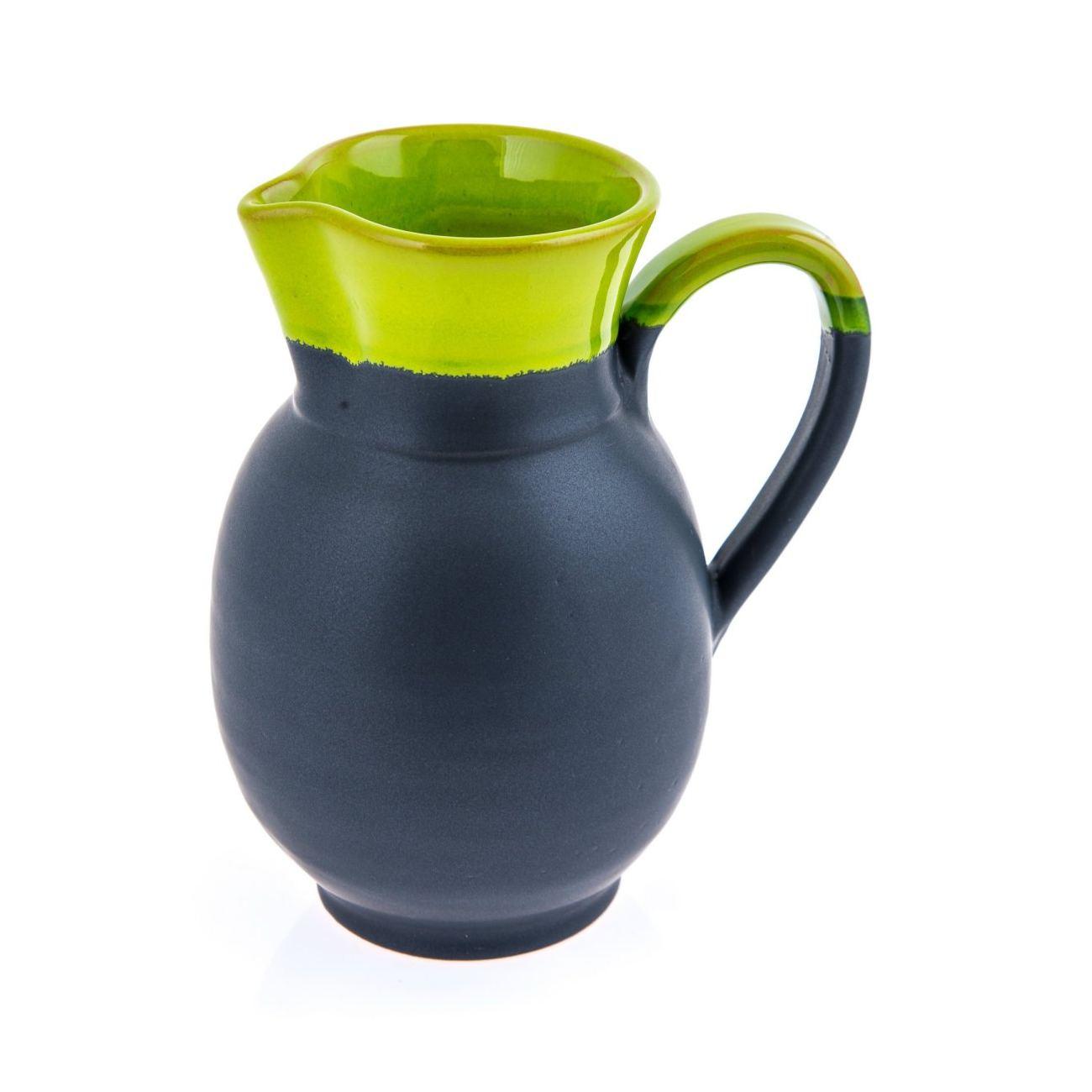 stylish handmade ceramic decanter or pitcher green  grey   - modern  stylish handmade ceramic decanter or pitcher green  grey ''(cm)