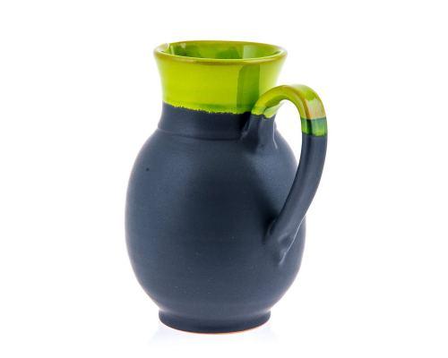 Κανάτα - Κεραμική, Στρογγυλή Γκρι - Πράσινη