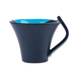 Κούπες Καφέ - Σετ 2 τεμ. Κεραμικές, Γκρι - Μπλε