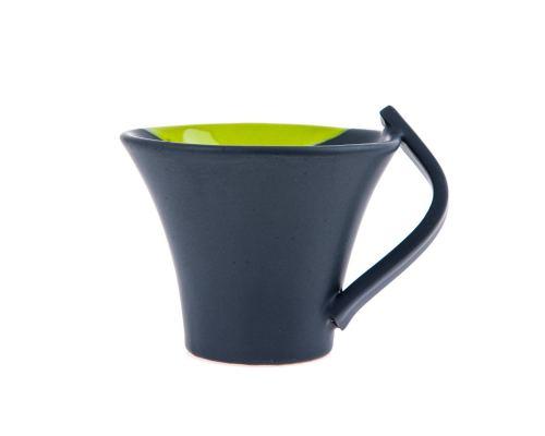 Κούπες Καφέ - Σετ 6 τεμ. Κεραμικές, Γκρι - Πράσινο