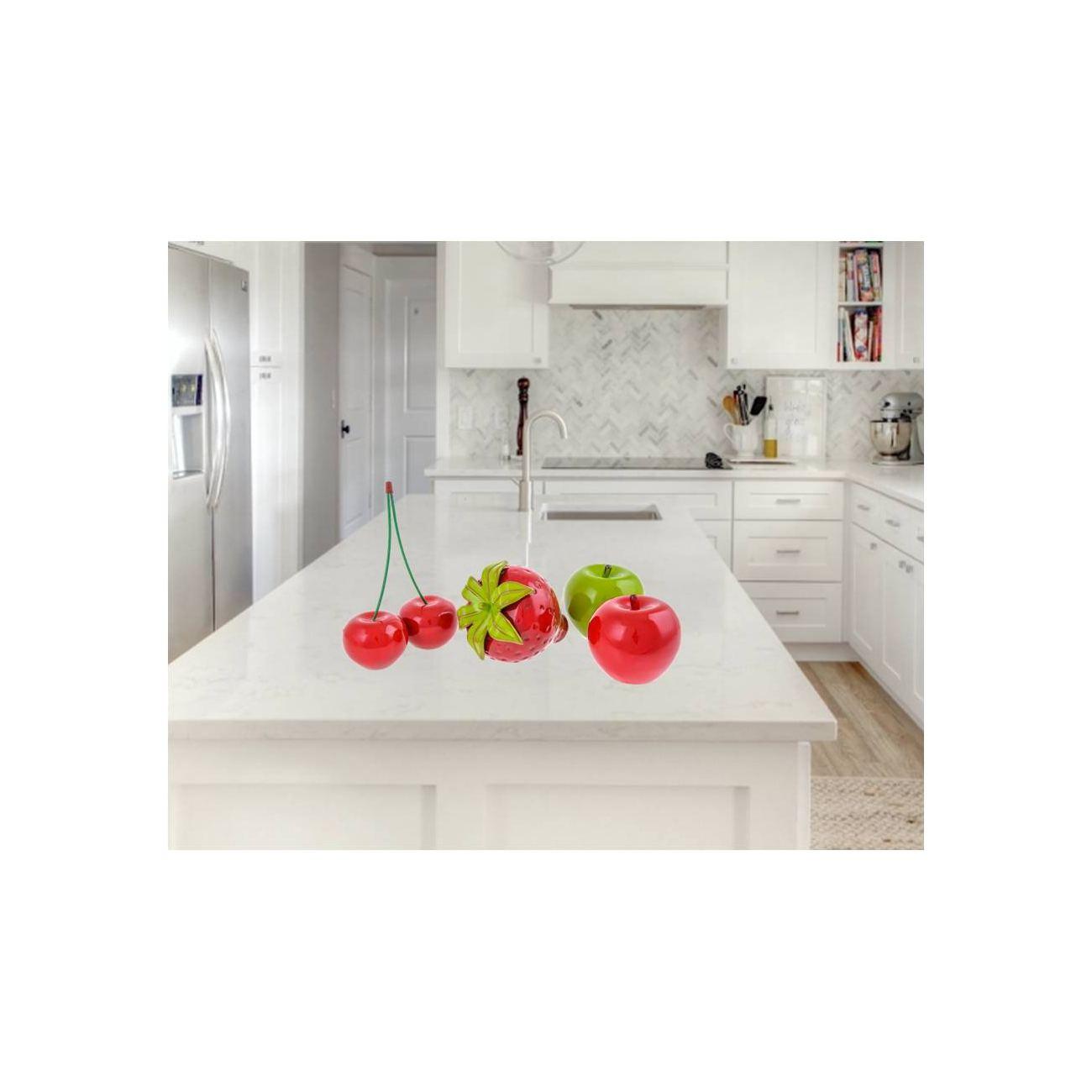 Fruit Ornament Set Of 4 Modern Handmade Ceramic Decor Large