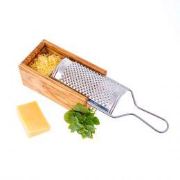 Τρίφτης Τυριού σε Κουτί από Ξύλο Ελιάς