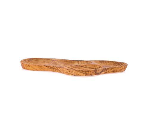 Πιατέλα από Ξύλο Ελιάς - Γαβάθα 4 Θέσεων