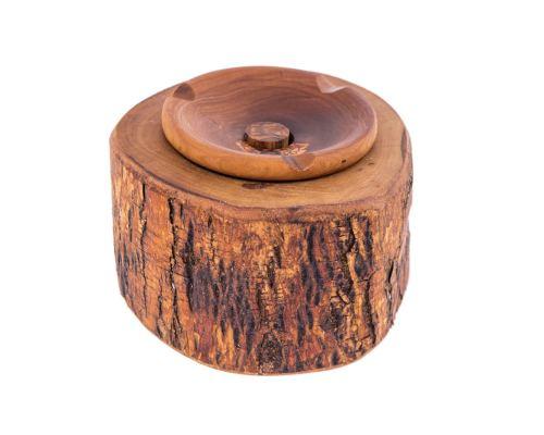 Αξεσουάρ Σπιτιού - Σετ Τασάκι, Βάση για Ρεσώ & 6 Σουβέρ από Ξύλο Ελιάς