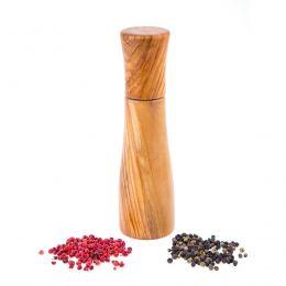 Set of 2 Olive Wood Salt and Pepper Mills or Salt and Pepper Grinders, Modern Style