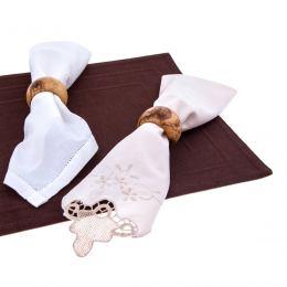 Κρίκοι Πετσέτας - Σετ 4 τεμ. από Ξύλο Ελιάς