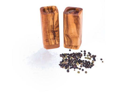 Σετ Σερβιρίσματος - Μεγάλη Σανίδα Κοπής & Αλατοπίπερο από Ξύλο Ελιάς