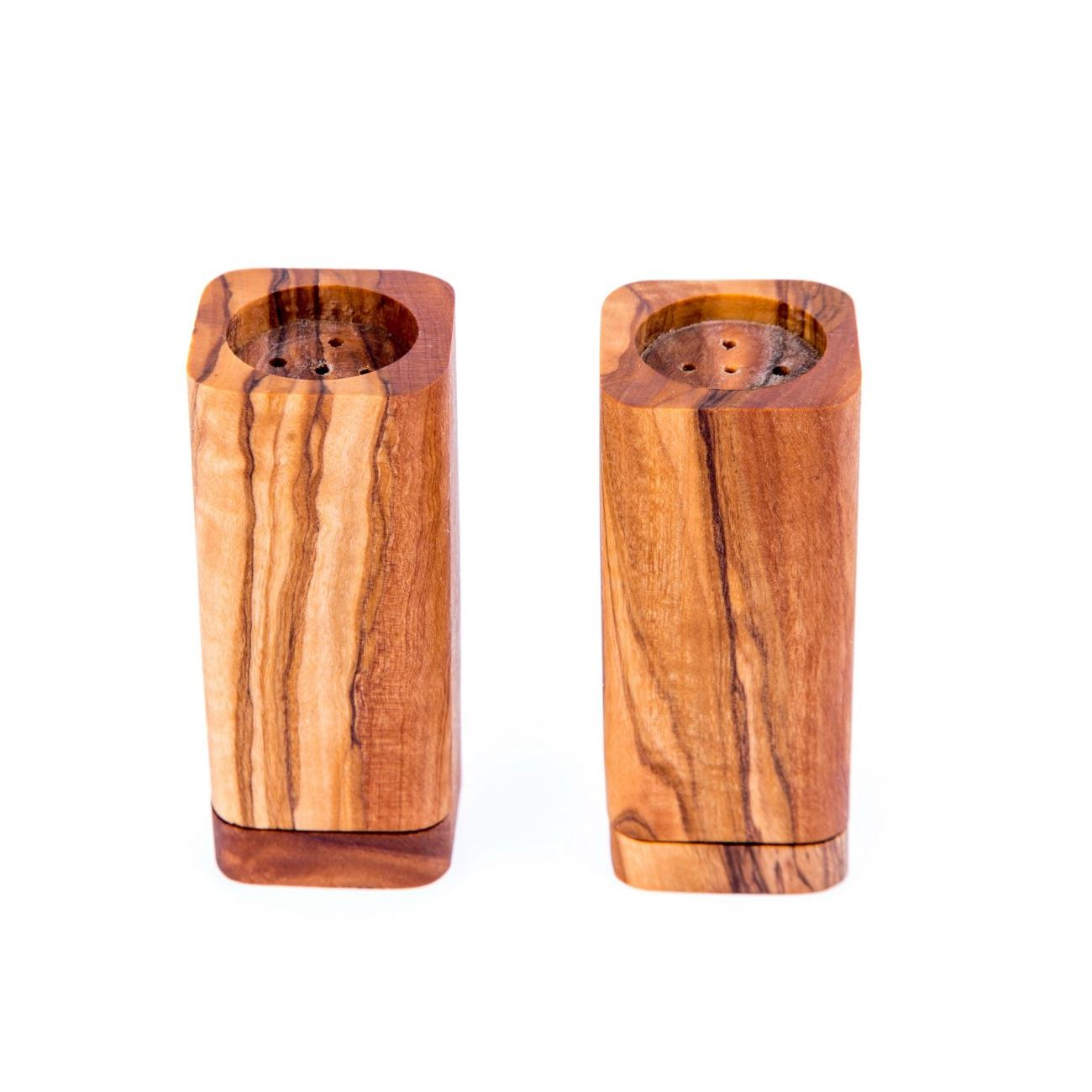 Olive Wood Salt Pepper Shakers And Chopping Or Cutting Board Set