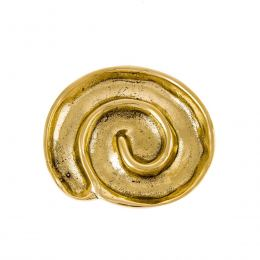 Ashtray - Handmade Solid Bronze - Spiral Design - Gold