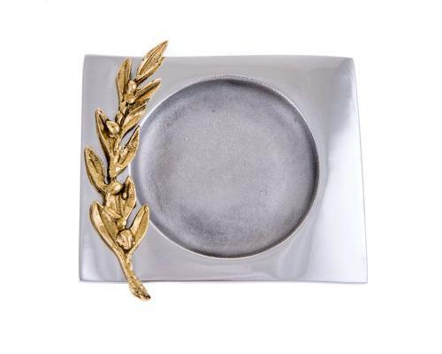 Μεταλλικό Τασάκι - Διακοσμητικό Κλαδί Ελιάς