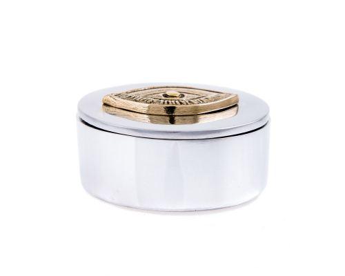 Μεταλλικό Κουτί - Στρογγυλό Διακοσμητικό με Μάτι