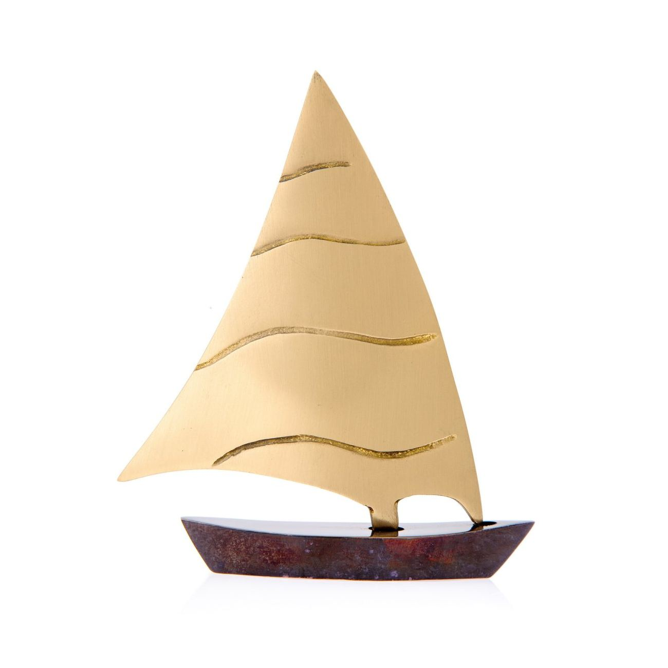 Sailing Boat Set Of 3 Handmade Metal Decorative Nautical Ornament Oxidized Bronze Small Medium Large
