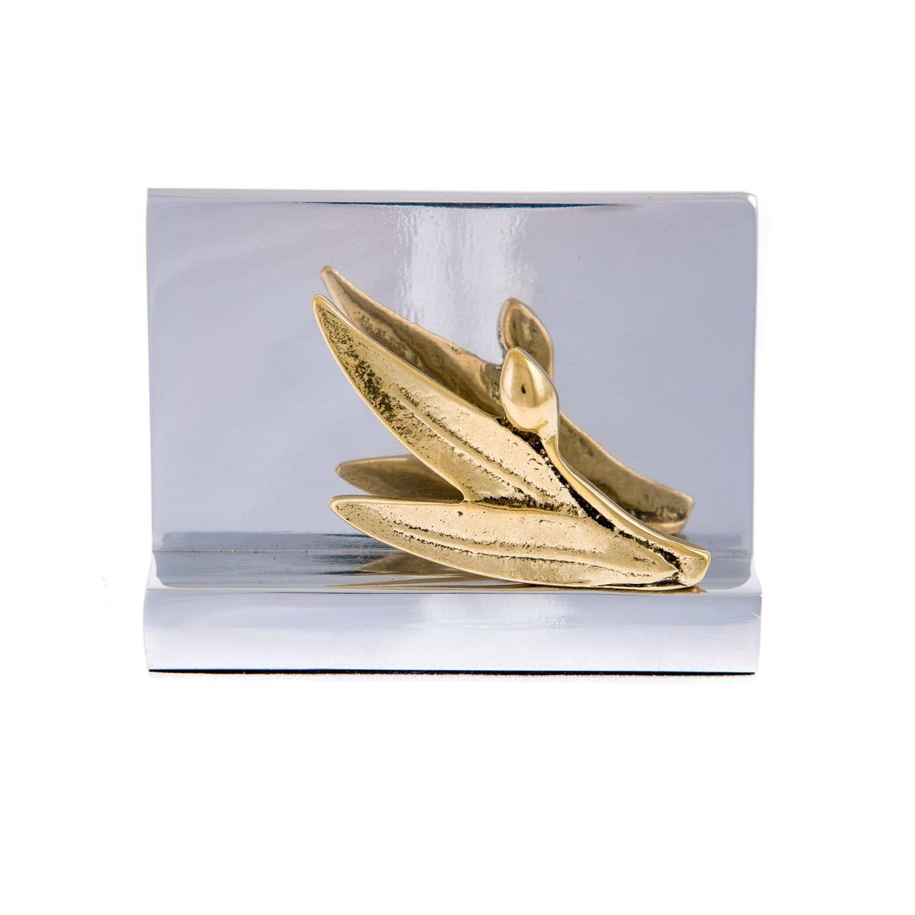 Business card holder handmade solid metal desk accessory golden business card holder handmade solid metal desk accessory golden olive branch design colourmoves